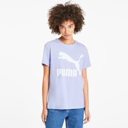 Camiseta Classics con logotipo para mujer, Purple Heather, pequeño