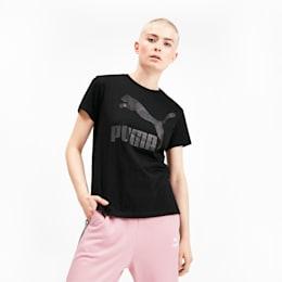Classics Women's Logo Tee, Puma Black, small