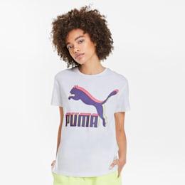 Classics Women's Logo Tee, Puma White-3D Purple, small