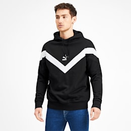 Iconic MCS Men's Hoodie, Puma Black-White combo, small