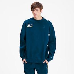 PUMA x ADER ERROR Crew Sweater, gibraltar Sea, small