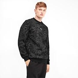 Sweatshirt de decote redondo Epoch para homem, Puma Black-AOP, small