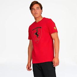 Scuderia Ferrari Big Shield Men's Tee, Rosso Corsa, small