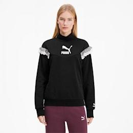 PUMA x TYAKASHA Women's Turtleneck Sweater, Cotton Black, small
