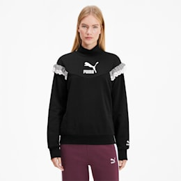 Sweatshirt PUMA x TYAKASHA Turtleneck pour femme, Cotton Black, small