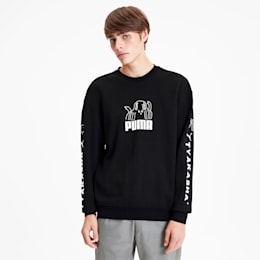 PUMA x TYAKASHA Crew Men's Sweater, Cotton Black, small