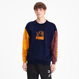 PUMA x TYAKASHA Crew Men's Sweater, Peacoat, small