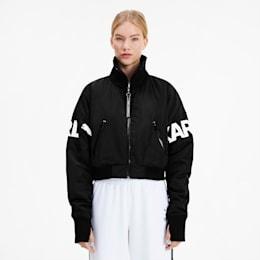 PUMA x KARL LAGERFELD Women's Bomber Jacket, Puma Black, small