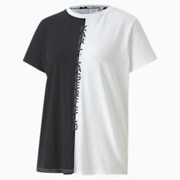 PUMA x KARL LAGERFELD Damen Open Back T-Shirt, Puma Black, small