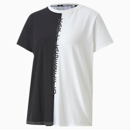 PUMA x KARL LAGERFELD Open Back Women's Tee, Puma Black, small-SEA