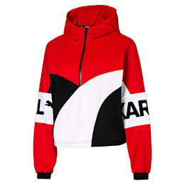 PUMA x KARL LAGERFELD XTG Hooded Half Zip Women's Sweater