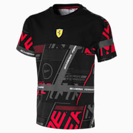 Ferrari Street Kinder T-Shirt, Puma Black, small