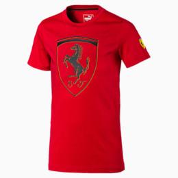 Camiseta urbana Scuderia Ferraricon insignia grande para niño joven, Rosso Corsa, pequeño
