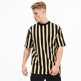 Downtown Stripe Herren T-Shirt, Puma Black-AOP, small