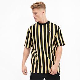 T-Shirt Downtown Stripe pour homme, Puma Black-AOP, small
