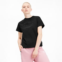 T-shirt Downtown para mulher, Puma Black, small