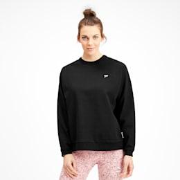 Downtown Women's Crewneck Sweatshirt, Puma Black, small