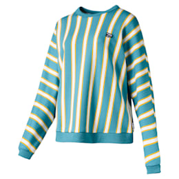 Downtown Stripe Crew Neck Women's Sweater