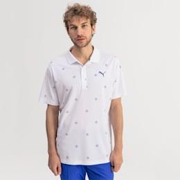 Ditsy Men's Golf Polo, Bright White, small