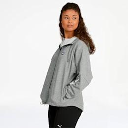 BMW M Motorsport Women's Sweat Jacket, Medium Gray Heather, small