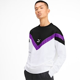 Iconic MCS Crew Men's Sweater, Puma White, small-SEA
