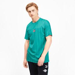 luXTG Herren T-Shirt, Blue Turquoise, small