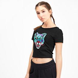 Camiseta Claw para mujer, Puma Black, pequeño