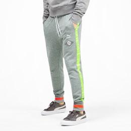 luXTG Men's Cuffed Sweatpants, Medium Gray Heather, small
