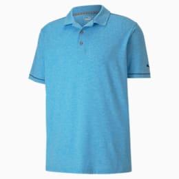 Rancho Men's Polo, Ibiza Blue Heather, small
