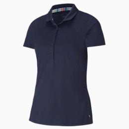 Rotations Women's Polo Shirt, Peacoat, small-SEA