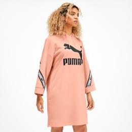 CLASSICS テープ ウィメンズ フーデッド ドレス, Peach Parfait, small-JPN