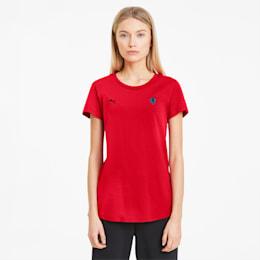 Camiseta Scuderia Ferrari con escudo pequeño para mujer