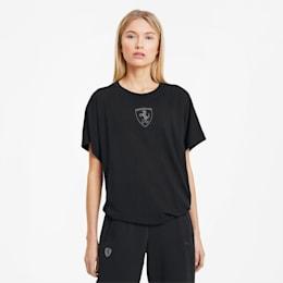 Camiseta con escudo grande de Scuderia Ferrari para mujer