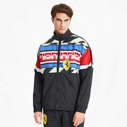 Scuderia Ferrari Woven Men's Motorsport Jacket, Puma Black, small-SEA
