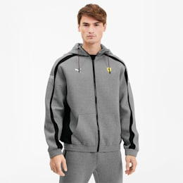 Scuderia Ferrari Hooded-træningsjakke til mænd, Medium Gray Heather, small