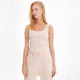 Camiseta sin mangas Classics Logo para mujer, Rosewater, pequeño