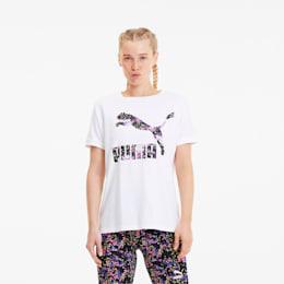 Camiseta  con mangas dobladas AOP para mujer