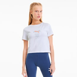 Tailored for Sport Graphic Women's Crop Top, Puma White, small-SEA