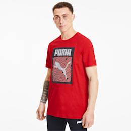 Men's Logo Fill Tee, High Risk Red, small