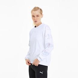 Glow Pack Crew Women's Sweater, Puma White, small-SEA
