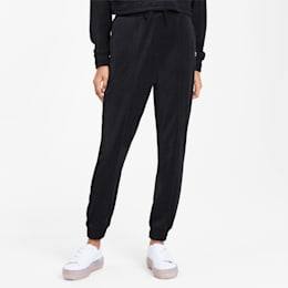 Downtown Tapered Women's Sweatpants, Puma Black, small-SEA