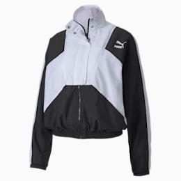 Tailored for Sport Damen Gewebte Trainingsjacke, Puma Black, small