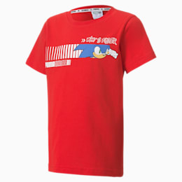 PUMA x SONIC Kids' Tee, High Risk Red, small