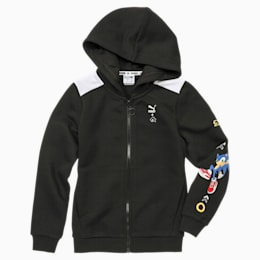 PUMA x SONIC Hooded Boys' Sweat Jacket, Puma Black, small