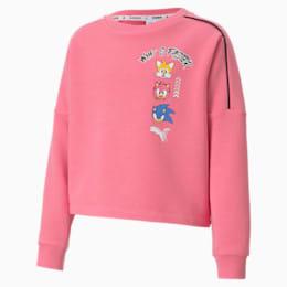 PUMA x SONIC meisjessweater, Bubblegum, small