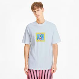 Męska koszulka Downtown Graphic, Puma White-Puma White, small