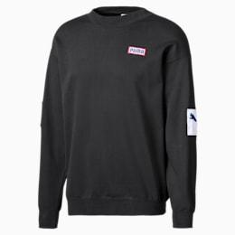 Herren Rundhals-Sweatshirt, Puma Black, small