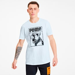 Graphic Box Logo Men's Tee, Puma White-puma black, small