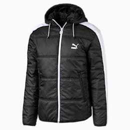 Classics T7 Herren Gefütterte Jacke, Puma Black, small