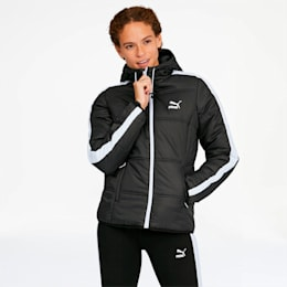 Classics T7 Women's Padded Jacket, Puma Black, small